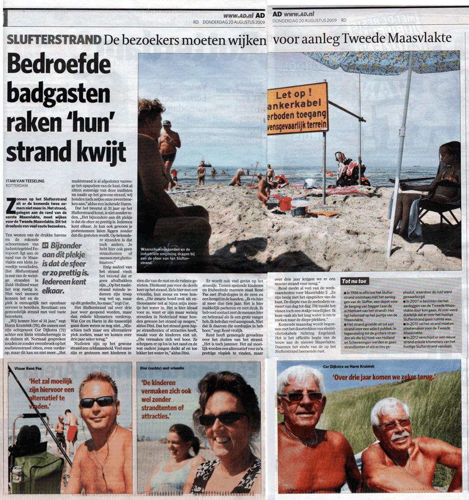 Bedroefde badgasten raken 'hun' strand kwijt (AD)