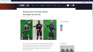 Anatomisch correcte robots bewegen net als wij (ntr)